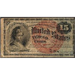 March 3, 1863 Fifteen Cents Fourth Issue Fractional Currency Note