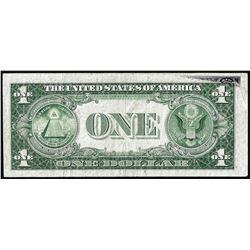 1935E $1 Silver Certificate Note Partial Offset ERROR