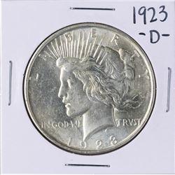 1923-D $1 Peace Silver Dollar Coin