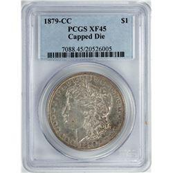 1879-CC Capped Die $1 Morgan Silver Dollar Coin PCGS XF45