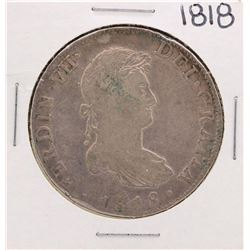 1818 Spanish 8 Reales Silver Coin