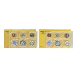 Lot of 1963-1964 (5) Coin Proof Sets