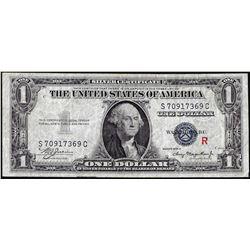 "1935A $1 Silver Certificate Experimental ""R"" Note"