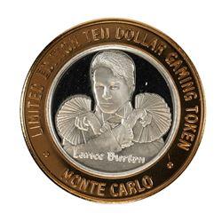 .999 Silver Monte Carlo Las Vegas, Nevada $10 Casino Limited Edition Gaming Token