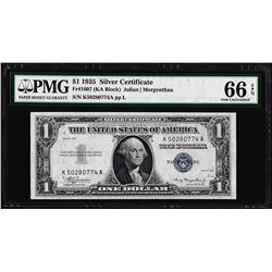 1935 $1 Silver Certificate Note Fr.1607 PMG Gem Uncirculated 66EPQ