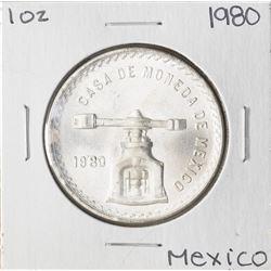 Brilliant Uncirculated 1980 Mexico Una Onza Casas De Moneda Silver Coin