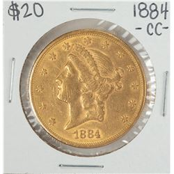 1884-CC $20 Liberty Head Double Eagle Gold Coin