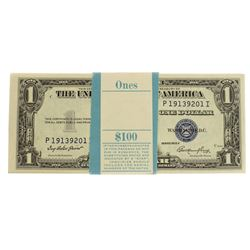 Pack of (100) Consecutive 1935E $1 Silver Certificate Notes