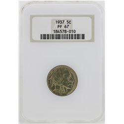 1937 Buffalo Nickel Proof Coin NGC PF67