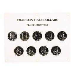 Set of 1955-1963 Proof Franklin Half Dollar Coins