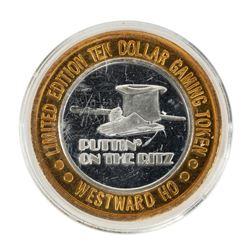 .999 Fine Silver Westward Ho Casino Las Vegas, NV $10 Limited Edition Gaming Token