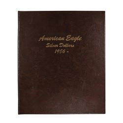 Set of 1986-2019 $1 American Silver Eagle Coins in Dansco Book