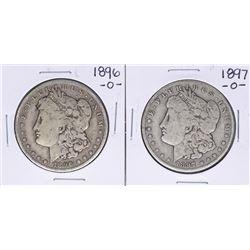 Lot of 1896-O & 1897-O $1 Morgan Silver Dollar Coins