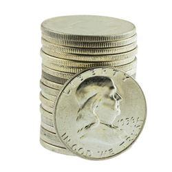 Roll of (20) Brilliant Uncirculated 1956 Franklin Half Dollar Coins