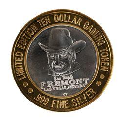 .999 Fine Silver Sam Boyd's Fremont Las Vegas, NV $10 Limited Edition Gaming Token