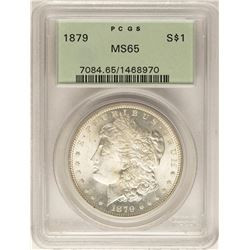 1879 $1 Morgan Silver Dollar Coin PCGS MS65 Old Green Holder