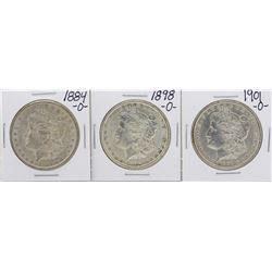 Lot of 1884-O, 1898-O, 1901-O $1 Morgan Silver Dollar Coins