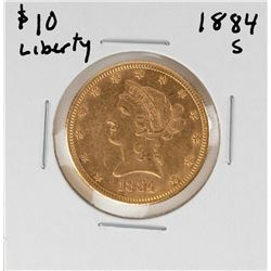 1884-S $10 Liberty Head Eagle Gold Coin