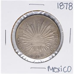 1878 M.H. Mexico 8 Reales Silver Coin