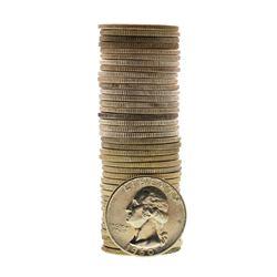 Roll of (40) Brilliant Uncirculated 1960 Washington Quarter Coins