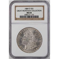 1884-O $1 Morgan Silver Dollar Coin NGC MS64