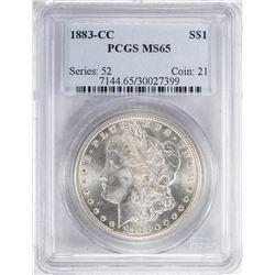 1883-CC $1 Morgan Silver Dollar Coin PCGS MS65