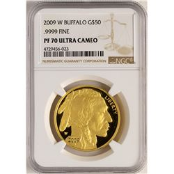 2009-W $50 Proof American Gold Buffalo Coin NGC PF70 Ultra Cameo