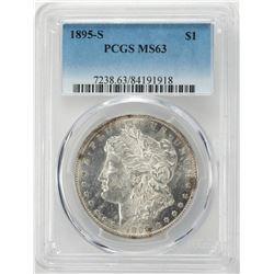 1895-S $1 Morgan Silver Dollar Coin PCGS MS63