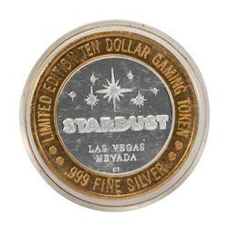 .999 Fine Silver Stardust Las Vegas, Nevada $10 Limited Edition Gaming Token