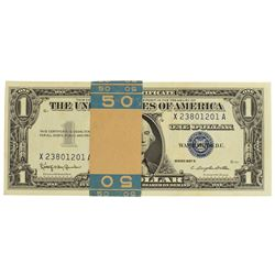 Pack of (50) Consecutive 1957B $1 Silver Certificate Notes