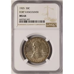 1925 Fort Vancouver Centennial Commemorative Half Dollar Coin NGC MS64