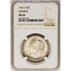 1923 Monroe Centennial Commemorative Half Dollar Coin NGC MS66