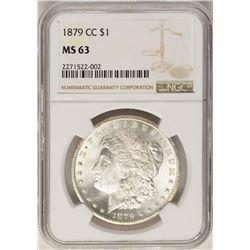 1879-CC $1 Morgan Silver Dollar Coin NGC MS63