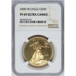 2000-W $50 American Gold Eagle Coin NGC PF69 Ultra Cameo