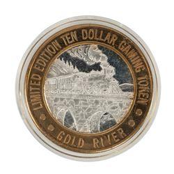 .999 Silver Gold River Laughlin, NV $10 Limited Edition Casino Gaming Token