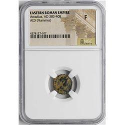 Arcadius 383-408 AD Ancient Eastern Roman Empire Coin NGC F