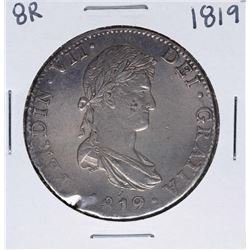 1819-JJ Mexico 8 Reales Ferdin VII Silver Coin