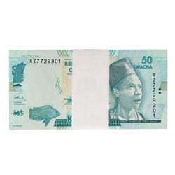 Pack of (100) Uncirculated 2016 Reserve Bank of Malawi 50 Kwacha Bank Notes