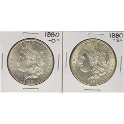 Lot of 1880-S & 1880-O $1 Morgan Silver Dollar Coins