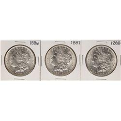 Lot of 1886-1888 $1 Morgan Silver Dollar Coins