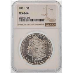 1881 $1 Morgan Silver Dollar Coin NGC MS64+