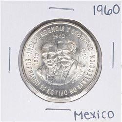 1960 Mexico Diez Pesos Silver Coin