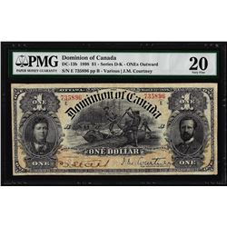 1898 $1 Dominion of Canada ONEs Outward Note DC-13b PMG Very Fine 20