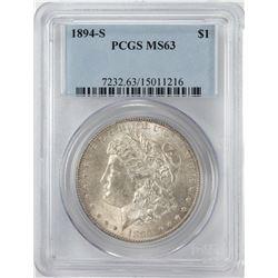 1894-S $1 Morgan Silver Dollar Coin PCGS MS63