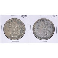 Lot of (2) 1892 $1 Morgan Silver Dollar Coins