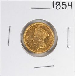 1854 $3 Indian Princess Head Gold Coin