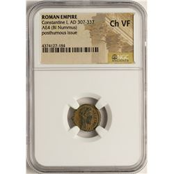 Constantine I, 307-337 AD Ancient Roman Empire Coin NGC Ch VF