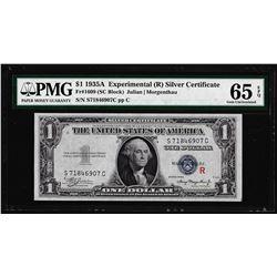"1935A $1 Silver Certificate Experimental ""R"" Fr.1609 PMG Gem Uncirculated 65EPQ"