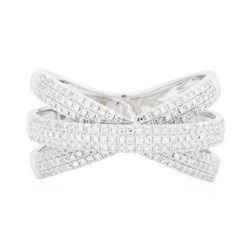 14KT White Gold 0.70 ctw Diamond Ring