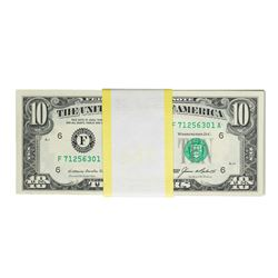 Pack of (100) 1985 $10 Federal Reserve Notes Atlanta